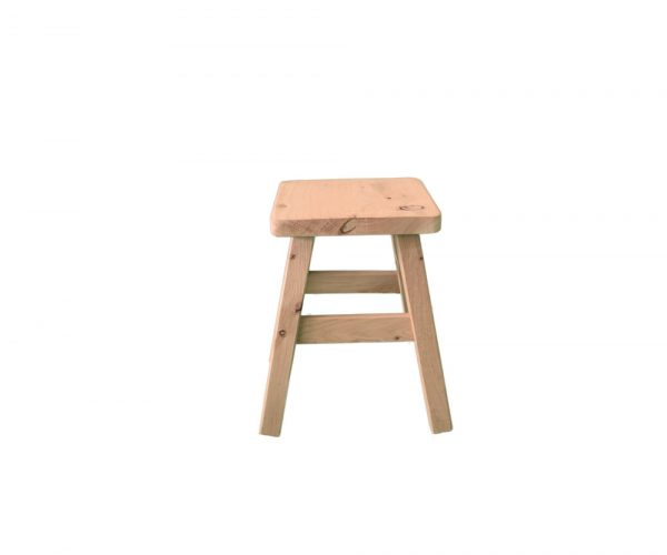 Country style timber stool