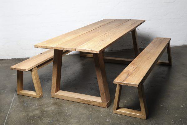 reclaimed hardwood dining set