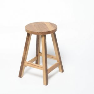 recycled hardwood milking stool