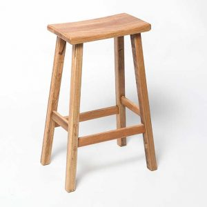 recycled hardwood timber stool