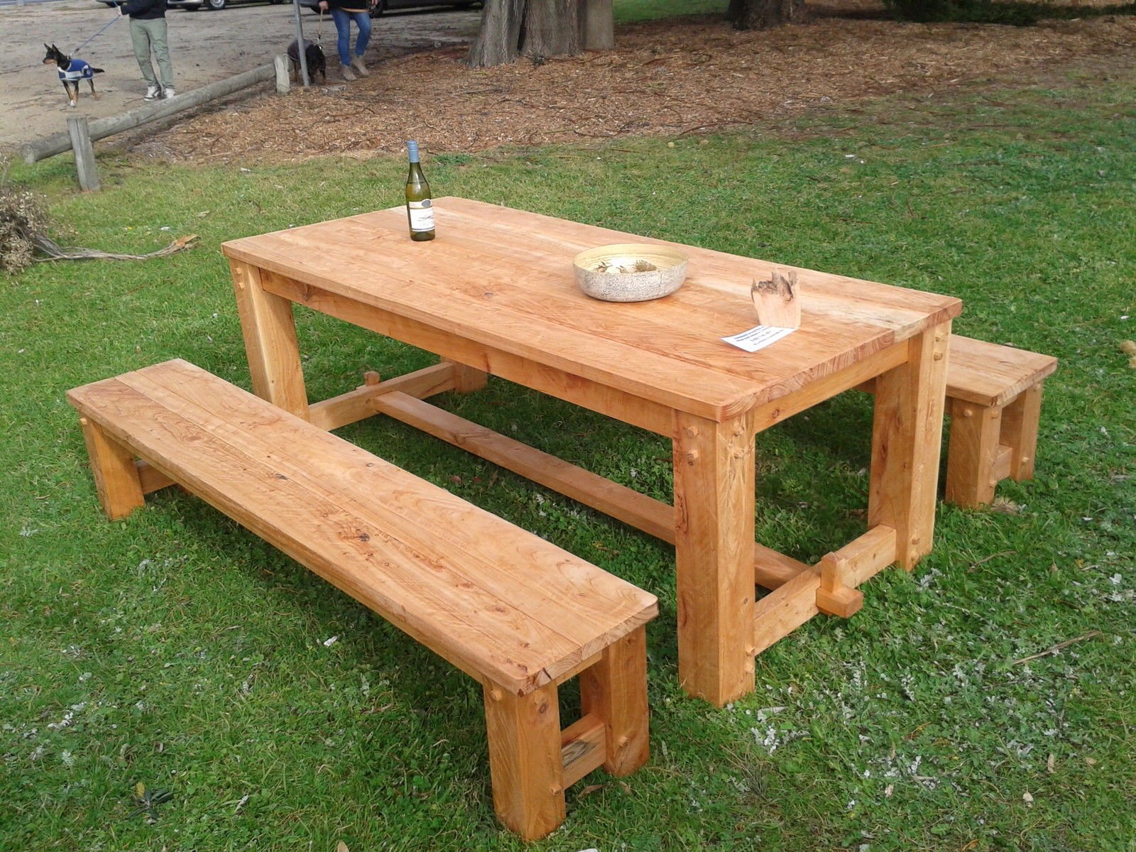 Picture of: Rustic Outdoor Table Traditional Country Style Handmade In Australia
